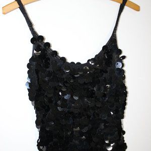 Bebe Tank Top with Large sequins